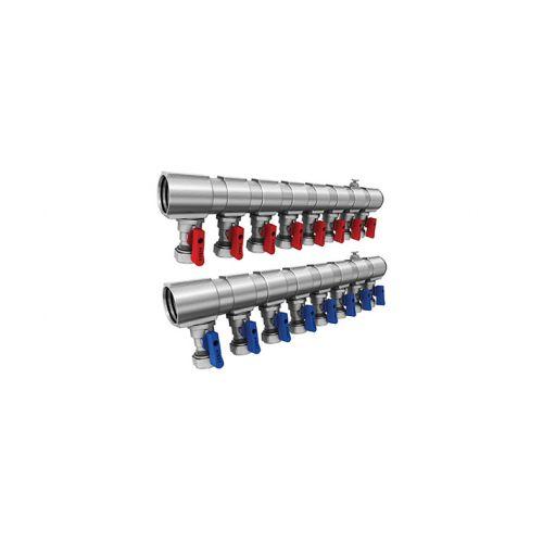 Fırat Mini Küresel Vanalı Kollektör 1'' 3'lü Mavi