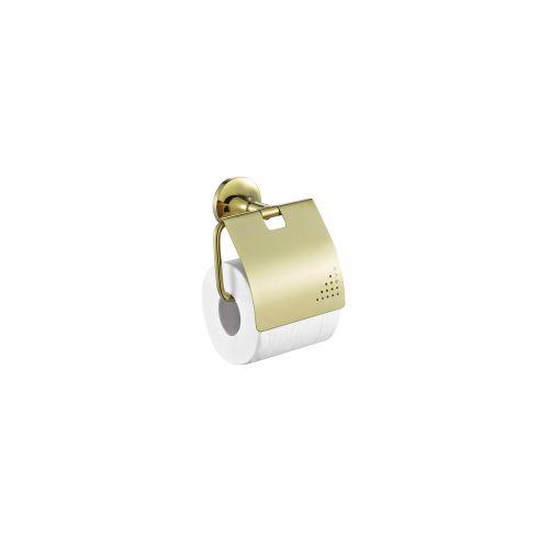 Creavit NO12028G Kapaklı Neo Gold Tuvalet Kağıtlığı - Altın
