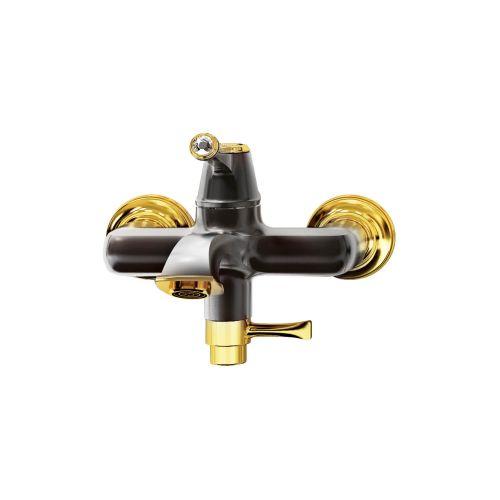 CREAVİT EG2500-S Elegant Banyo Armatürü - Siyah&Altın Altın tek fonksiyonlu el duşu dahil